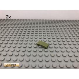 LEGO® 2Stk 1x2 Schrägstein Rundstein Olivgrün, olive green 11477 2