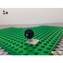 LEGO® 1Stk Platte / Achsplatte 2x2 Flugzeug alt-hellgrau 4870 mit Schienenrad