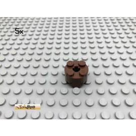 LEGO® 5Stk 2x2x1 Rundstein Braun, Brown 3941 6143 110