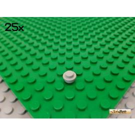 LEGO® 25Stk Platte 1x1 rund alt-hellgrau 4073
