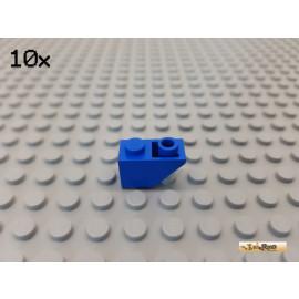 LEGO® 10Stk Dachstein / Schrägstein 1x2 negativ blau 3665
