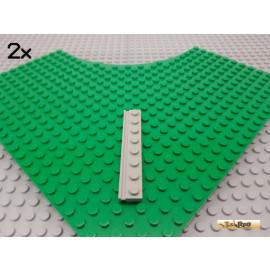 LEGO® 2Stk Platte 1x8 mit Führungsschiene alt-hellgrau 4510
