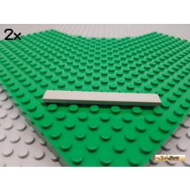 LEGO® 2Stk Fliese / Kachel 1x8 alt-hellgrau 4162