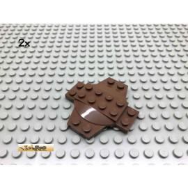 LEGO® 2Stk 6x6x2/3 Kreuzplatte Braun, Brown 30303 168