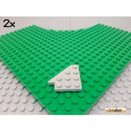 LEGO® 2Stk Keil / Flügelplatte 4x4 alt-hellgrau 3936