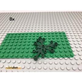 LEGO® 8Stk Pflanze Blätter Dunkelgrün,Dark Green 2417 106