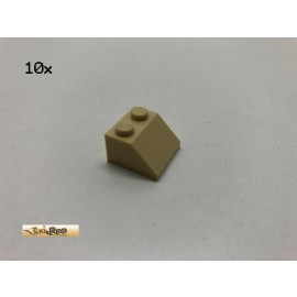 LEGO® 10Stk 2x2x1 45°Dachstein  Basic Brick Beige, Tan 3039 at