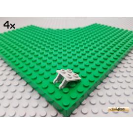 LEGO® 4Stk Platte / Achsplatte 2x2 alt-hellgrau 2415