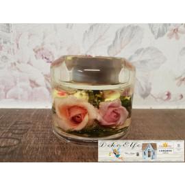 """""""Dreamlight"""" Kerze zylindrisch klein mit Blumen"""
