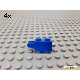 LEGO® 4Stk Stein 1x2 modifiziert mit Scharnier / Gelenk blau 30365
