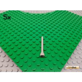 LEGO® 5Stk Antenne / Fahnenstange 1x4 alt-hellgrau 3957