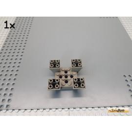 LEGO® 1Stk Sockelstein / Vierfachstein / Schrägstein 6x6x2 alt-dunkelgrau 30373