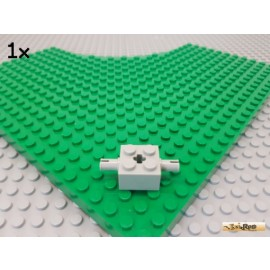 LEGO® 1Stk Stein 2x2 mit 2 Pins / Achsstein alt-hellgrau 30000