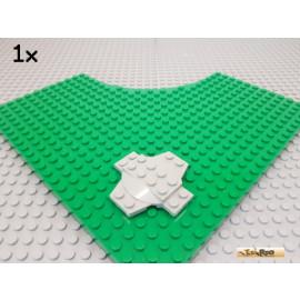 LEGO® 1Stk Kreuzplatte 6x6 mit Kuppel alt-hellgrau 30303