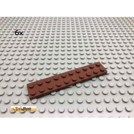 LEGO® 6Stk 2x10 Platte Brick Rotbraun, Reddish Brown 3832 106