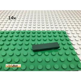 LEGO® 14Stk 1x4 Platte Plate Fliese Dunkelgrün, Dark Green 2431 1