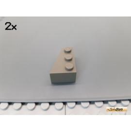 LEGO® 2Stk Flügel / Keilstein 2x3 links alt-dunkelgrau 6565