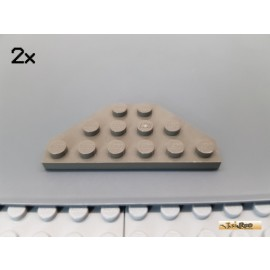 LEGO® 2Stk Platte / Flügelplatte / Ecke 3x6 alt-dunkelgrau 2419