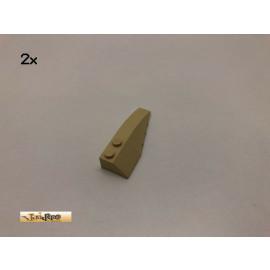 LEGO® 2Stk 6x2 Keil Bau Stein Basic Brick Beige, Tan 41747 22