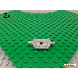 LEGO® 2Stk Platte 2x2 modifiziert mit 2 Achsen alt-hellgrau 6157