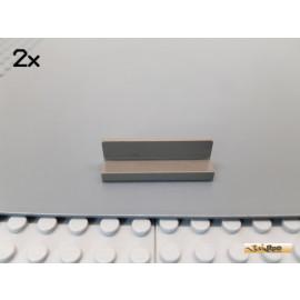 LEGO® 2Stk Fliese / Bank 1x4x1 alt-dunkelgrau 30413