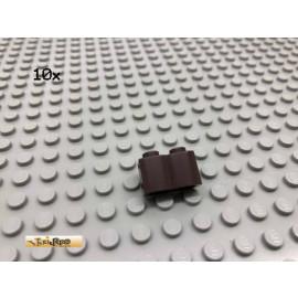 LEGO® 10Stk 1x2 Palisaden Stein Dunkelbraun, Dark Brown 30136 5