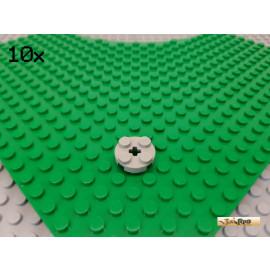 LEGO® 10Stk Platte Basic 2x2 rund alt-hellgrau 4032
