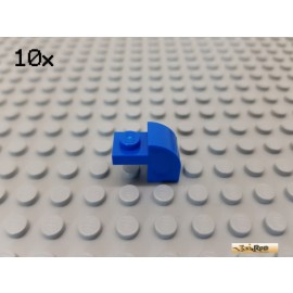 LEGO® 10Stk Stein 1x1 gebeugt / Bogen 1x2x1 1/3 blau 6091