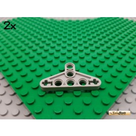 LEGO® 2Stk Technic Liftarm flach Triangel alt-hellgrau 2905