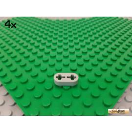 LEGO® 4Stk Technic Liftarm flach 1x2 / 2 Kreuzlöcher alt-hellgrau 41677