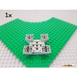 LEGO® 1Stk 4-fach Stein / Stein schräg 6x6x2 alt-hellgrau 30373