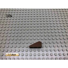 LEGO® 10Stk 1x3 25° Dachsteine Brick Braun, Brown 4286 35