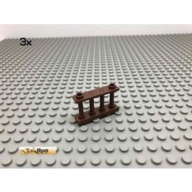 LEGO® 3Stk 1x4x2 Zaun Brick Braun, Brown 30055 96