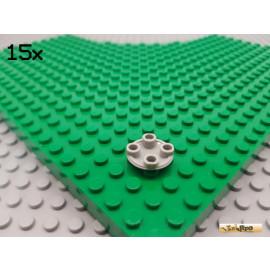 LEGO® 15Stk Gleiter / Fliese rund 2x2 negativ alt-hellgrau 2654