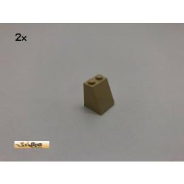 LEGO® 2Stk 2x2x2 75° Schrägstein Basic Brick Beige, Tan  26