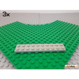 LEGO® 3Stk Platte Basic 2x10 alt-hellgrau 3832