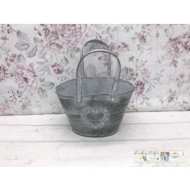 Blumenkorb Tasche Handtasche Shabby Vintage