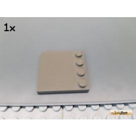 LEGO® 1Stk Platte / Fliese 4x4 mit Randnoppen alt-dunkelgrau 6179