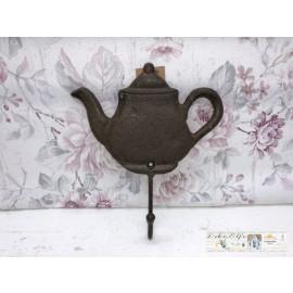 Wandhaken Haken Türhaken Kanne Kaffeekanne Teekanne Gusseisen
