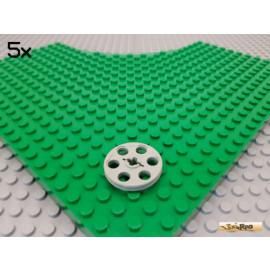 LEGO® 5Stk Riemenscheibe / Rad / Rolle alt-hellgrau 4185