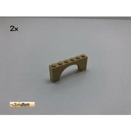 LEGO® 2Stk 1x6x2  Bogen- Brückensteine Basic Brick Beige, Tan 3307 14