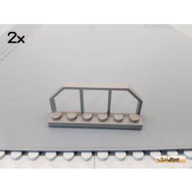 LEGO® 2Stk Eisenbahn Geländer 1x6 alt-dunkelgrau 6583