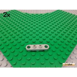 LEGO® 2Stk Technic Verbinder / Leiste / gezahnt 1x4 alt-hellgrau 4263