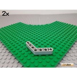 LEGO® 2Stk Technic Liftarm Ecke / Winkel alt-hellgrau 32348