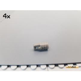 LEGO® 4Stk Technic Scharnier / Rasterscharnier alt-dunkelgrau 30552