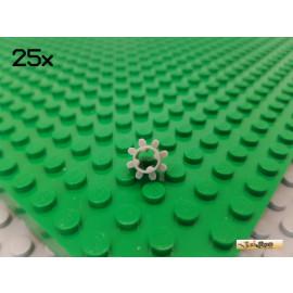 LEGO® 25Stk Technic Zahnrad 8 Zähne alt-hellgrau 3647