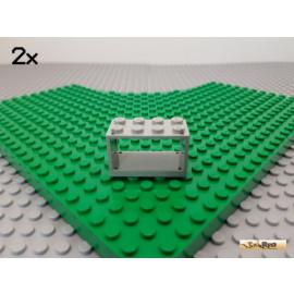 LEGO® 2Stk Gehäuse für Fadenspule 2x4x2 alt-hellgrau 4209
