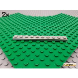 LEGO® 2Stk Platte Basic 1x10 alt-hellgrau 4470