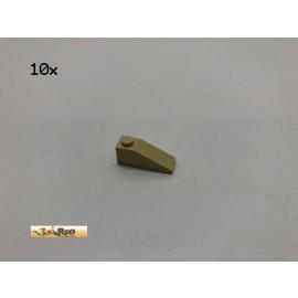 LEGO® 10Stk 1x3 33° Dachstein Basic Brick Beige, Tan 3033 ah