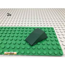 LEGO® 2Stk 4x4x1 Keilstein Schrägstein Dunkelgrün, Dark Green 47753 48